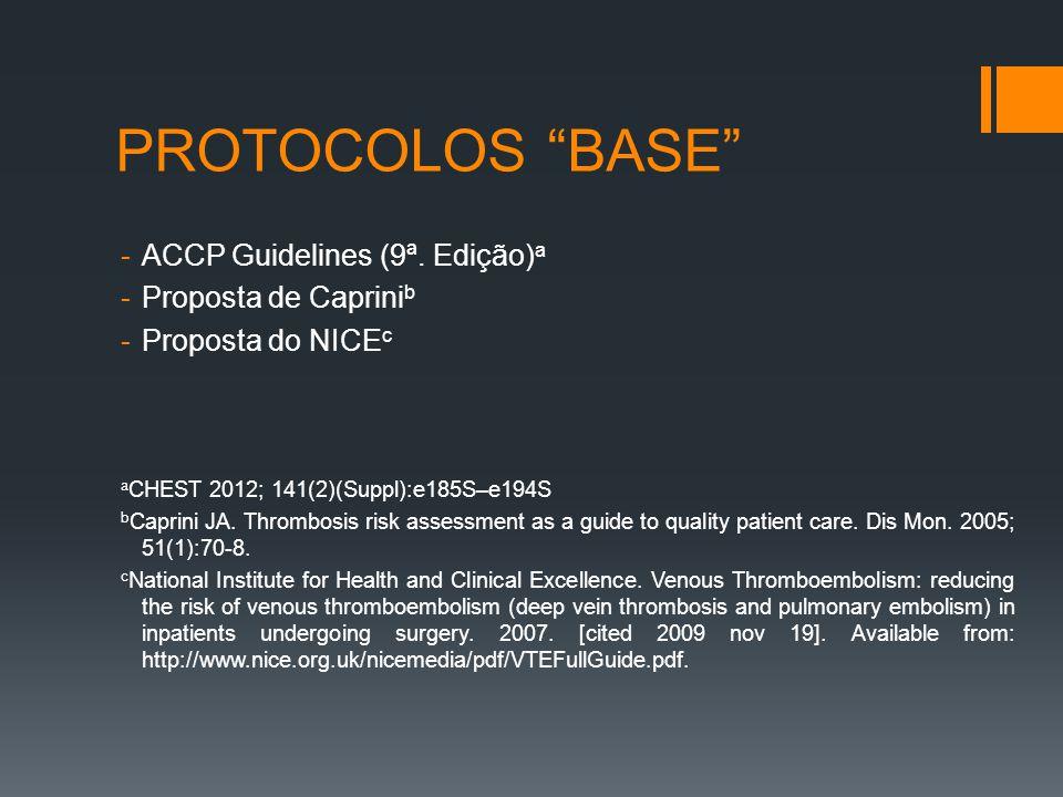 PROTOCOLOS BASE -ACCP Guidelines (9ª.