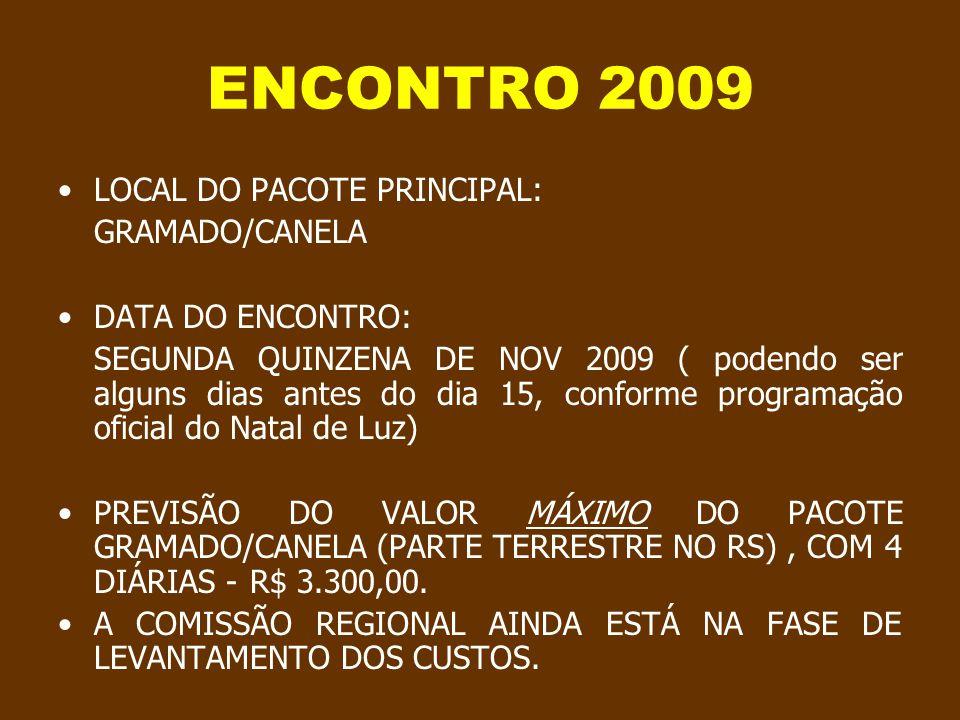 Progressão automática ENCONTRO TUDUCAX 2009 INFORMAÇÕES PROVISÓRIAS INICIAIS Créditos da produção original, imagens e músicas no ultimo slide
