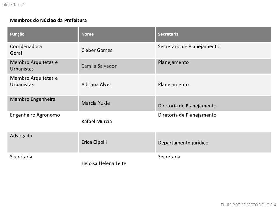 Slide 13/17 PLHIS POTIM METODOLOGIA