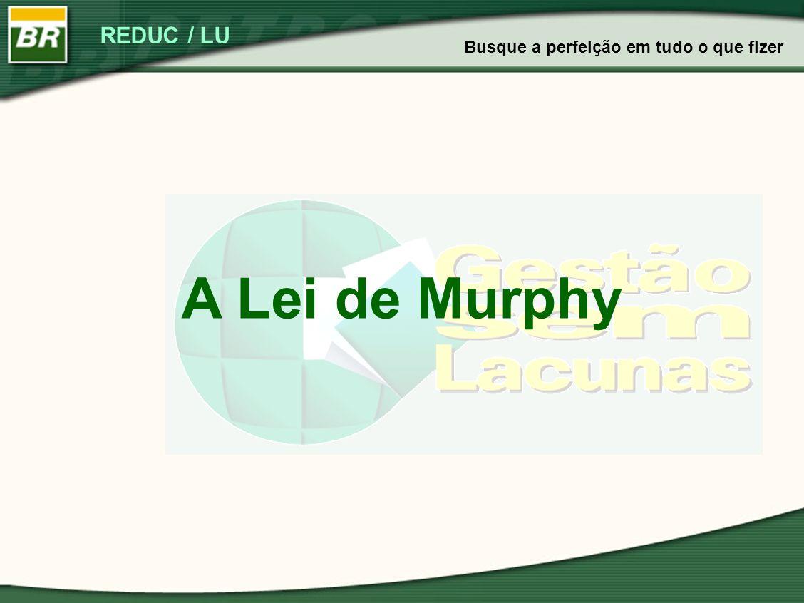 REDUC / LU A Lei de Murphy Busque a perfeição em tudo o que fizer