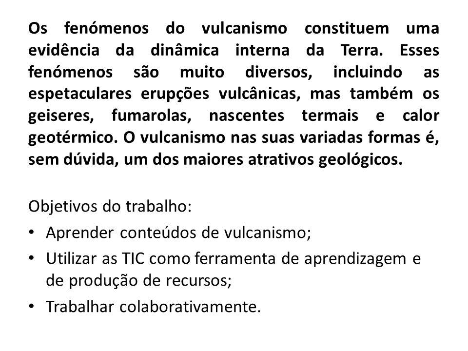 Os fenómenos do vulcanismo constituem uma evidência da dinâmica interna da Terra. Esses fenómenos são muito diversos, incluindo as espetaculares erupç