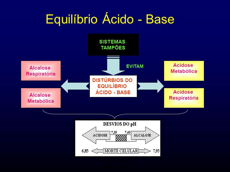 FMUC 2007/2008 Bioquímica I Equilíbrio Ácido - Base EVITAM SISTEMAS TAMPÕES DISTÚRBIOS DO EQUILÍBRIO ÁCIDO - BASE Acidose Respiratória Acidose Metaból