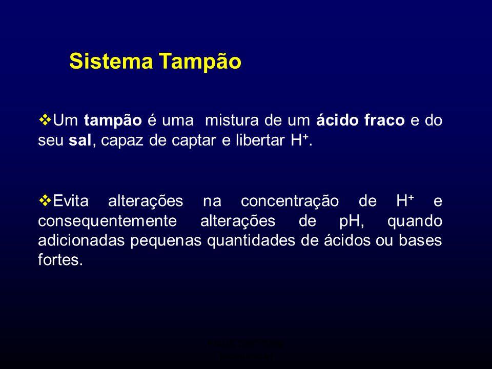 FMUC 2007/2008 Bioquímica I Sistema Tampão  Um tampão é uma mistura de um ácido fraco e do seu sal, capaz de captar e libertar H +.  Evita alteraçõe