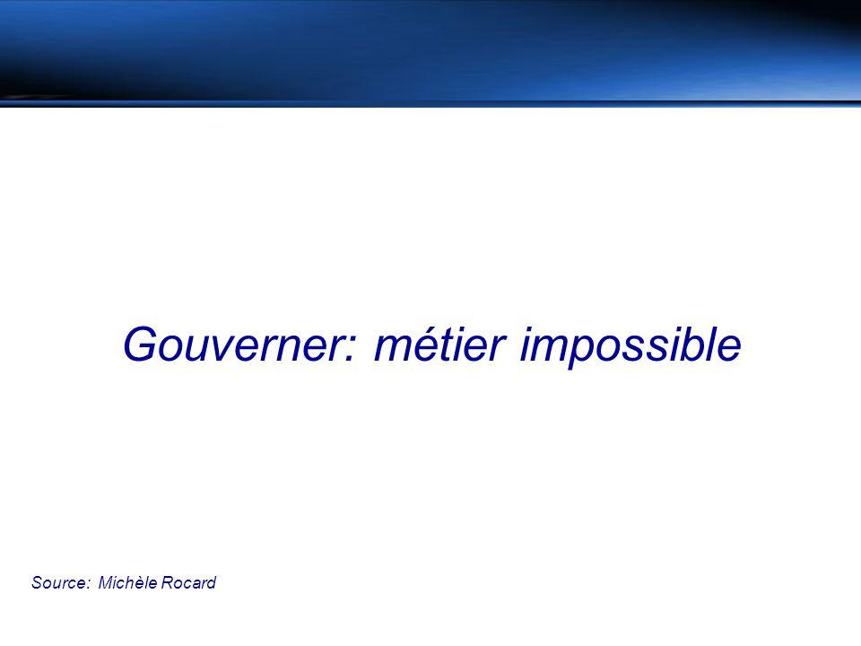 Gouverner: métier impossible Source: Michèle Rocard