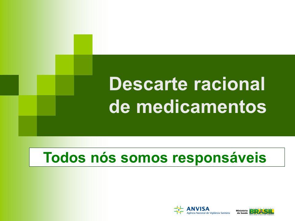 Descarte racional de medicamentos Todos nós somos responsáveis