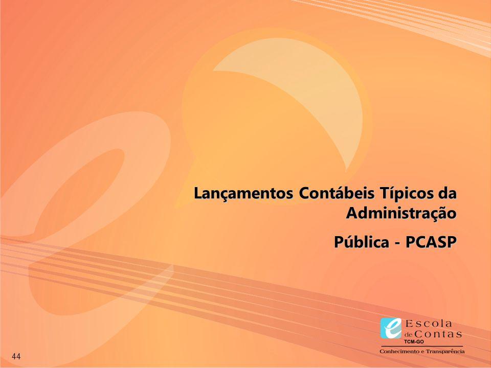 44 Lançamentos Contábeis Típicos da Administração Pública - PCASP