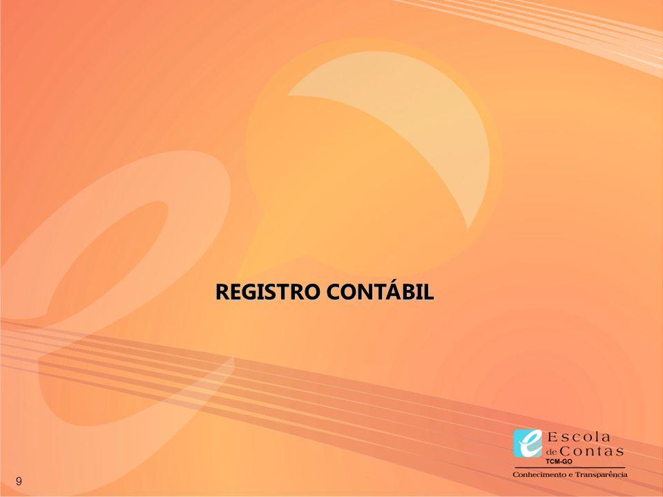 9 REGISTRO CONTÁBIL