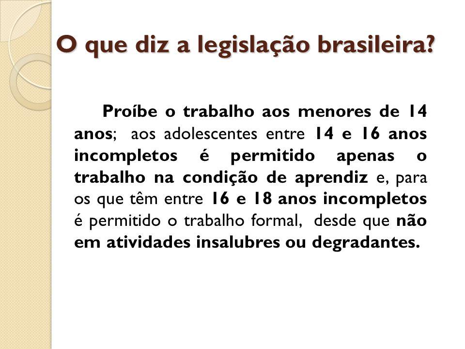 O que diz a legislação brasileira.