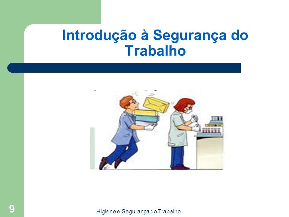 Introdução à Segurança do Trabalho Higiene e Segurança do Trabalho 9