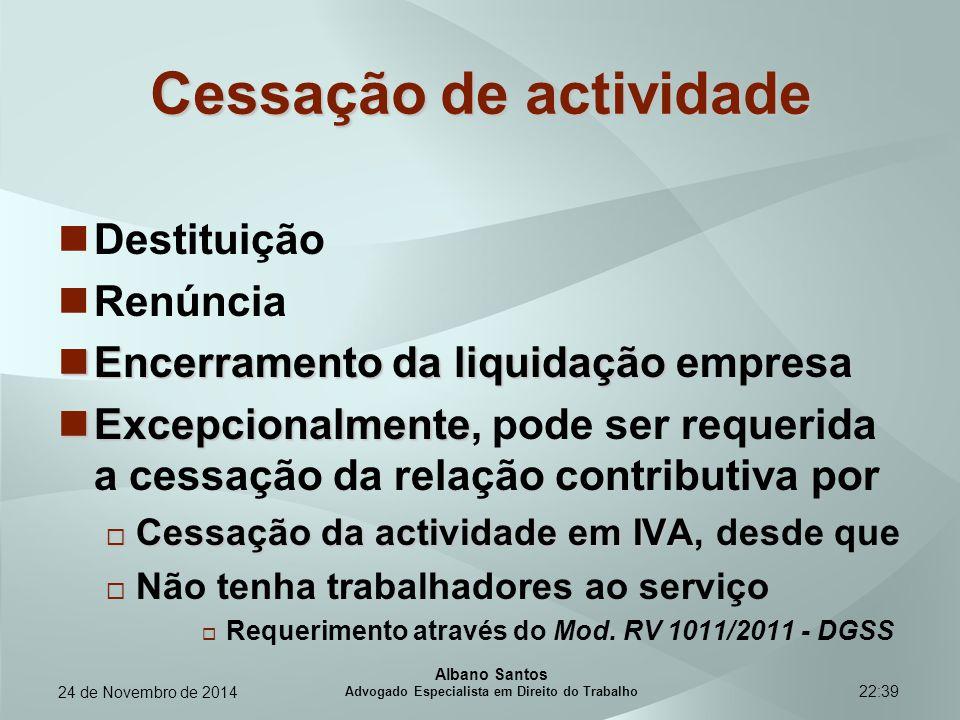 22:39 Cessação de actividade Destituição Renúncia Encerramento da liquidação Encerramento da liquidação empresa Excepcionalmente Excepcionalmente, pod