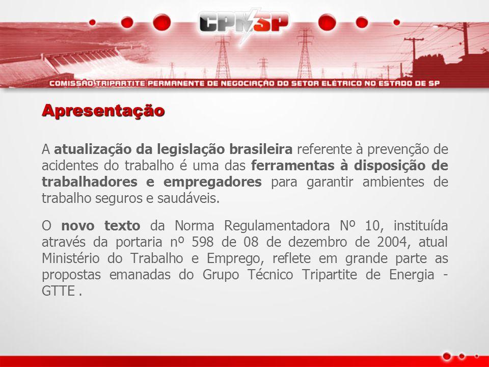 Apresentação A atualização da legislação brasileira referente à prevenção de acidentes do trabalho é uma das ferramentas à disposição de trabalhadores