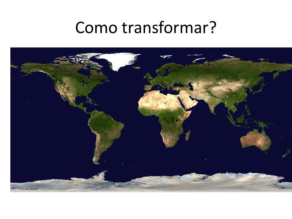É por meio das Projeções Cartográficas Projeção cartográfica é a representação de uma superfície esférica (a Terra) em um plano (o Mapa).