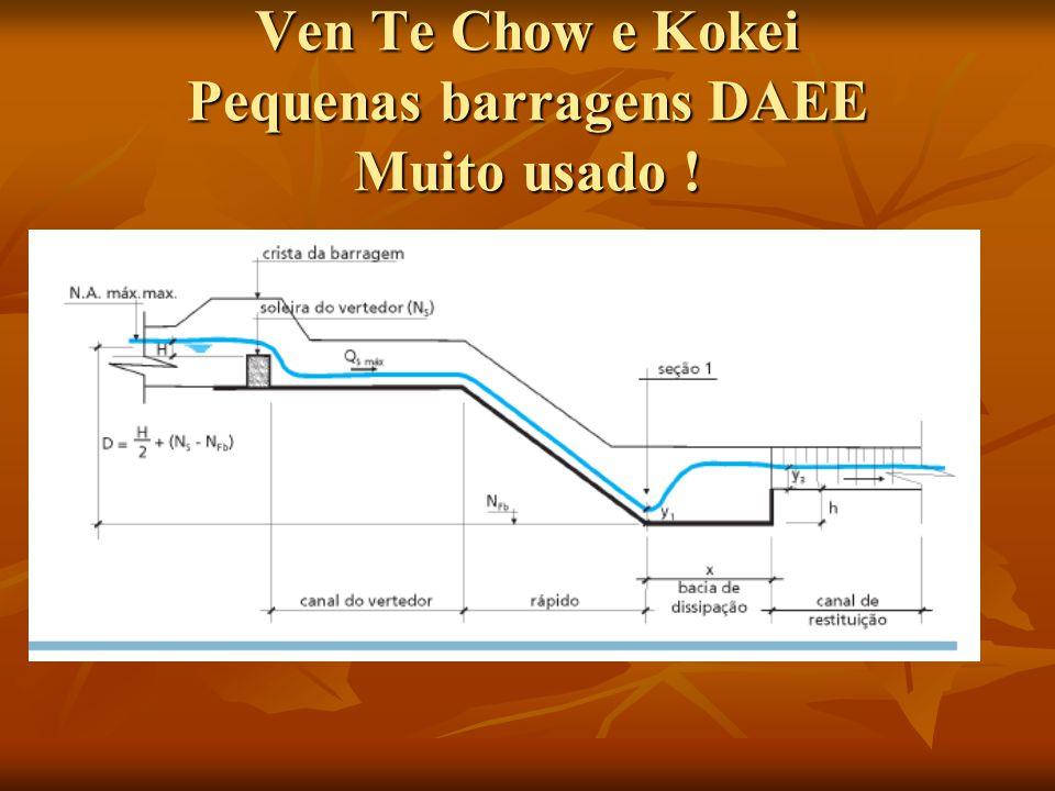 Ven Te Chow e Kokei Pequenas barragens DAEE Muito usado !