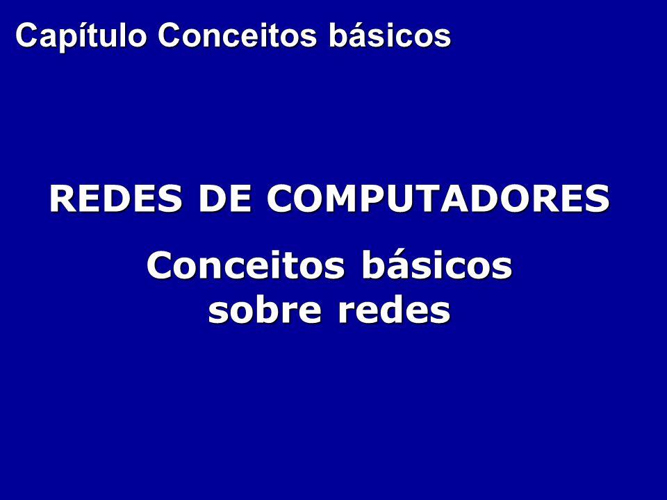 Capítulo Conceitos básicos REDES DE COMPUTADORES Conceitos básicos sobre redes