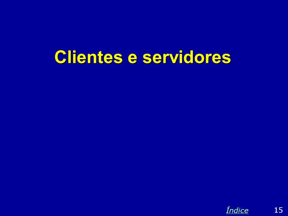 Clientes e servidores 15 Índice
