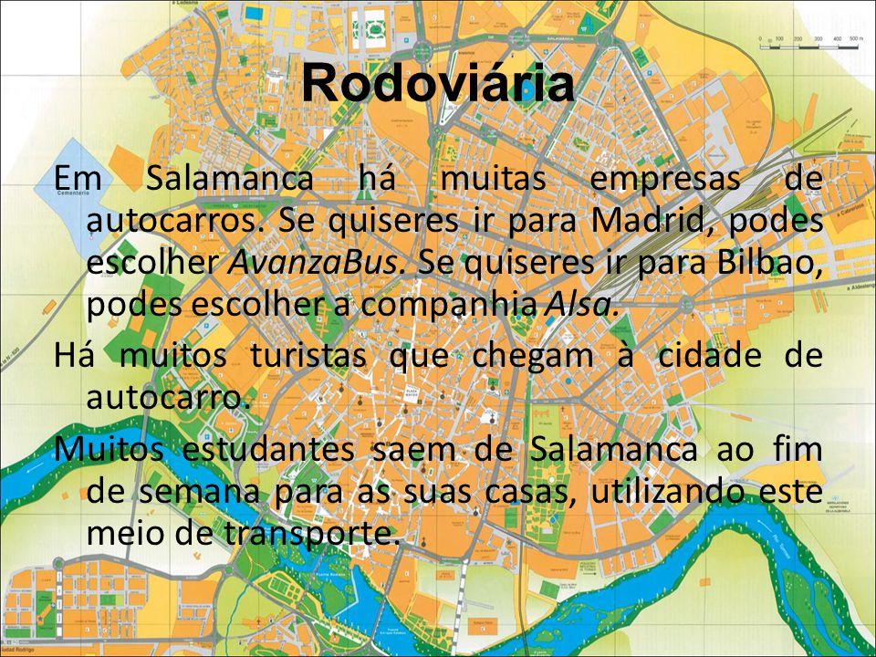 Rodoviária Em Salamanca há muitas empresas de autocarros.