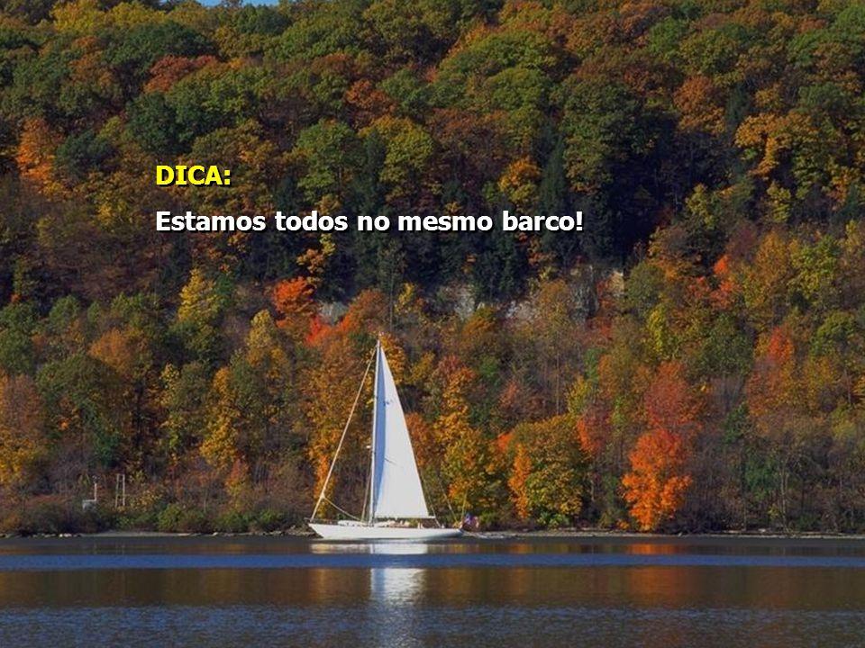 DICA: Estamos todos no mesmo barco! DICA: Estamos todos no mesmo barco!