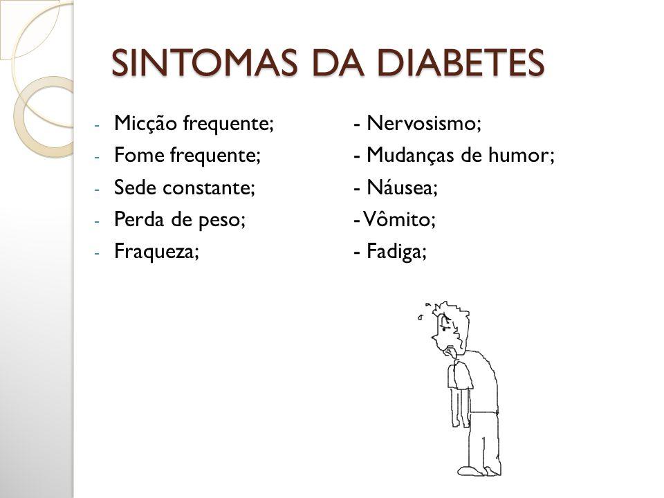 DIAGNÓSTICO DA DIABETES Glicemia em jejum: mede o nível de glicose no sangue depois de um jejum de 8 horas; Resultado Normal: 70 até 110 mg/dl.