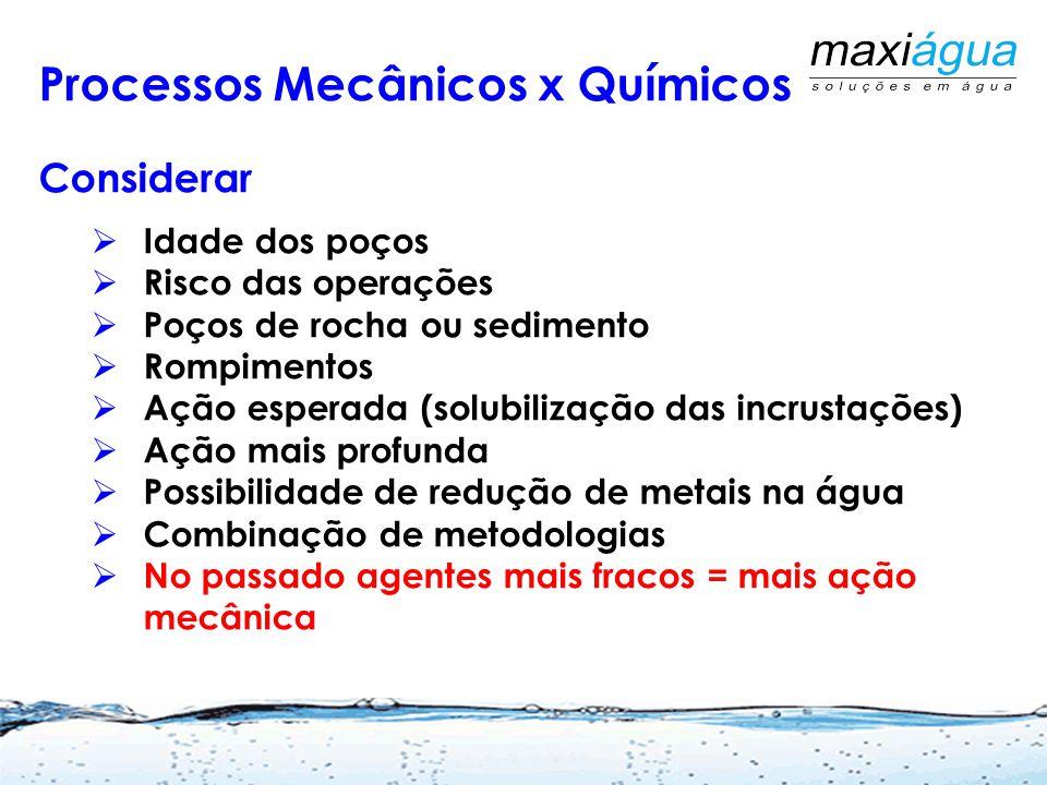 Escolha de Metodologia para solução dos Problemas Processos Químicos  Agentes desincrustantes de alta eficiência  Relação massa x massa Processos Me