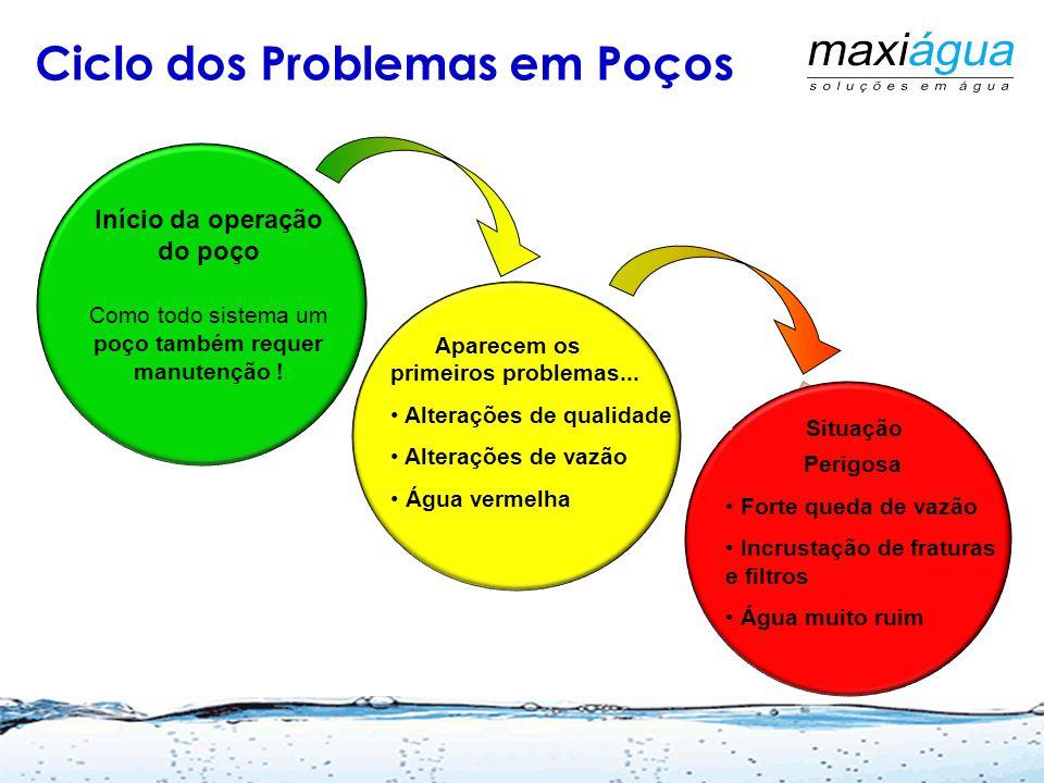 Ciclo dos Problemas em Poços Início da operação do poço Como todo sistema um poço também requer manutenção .