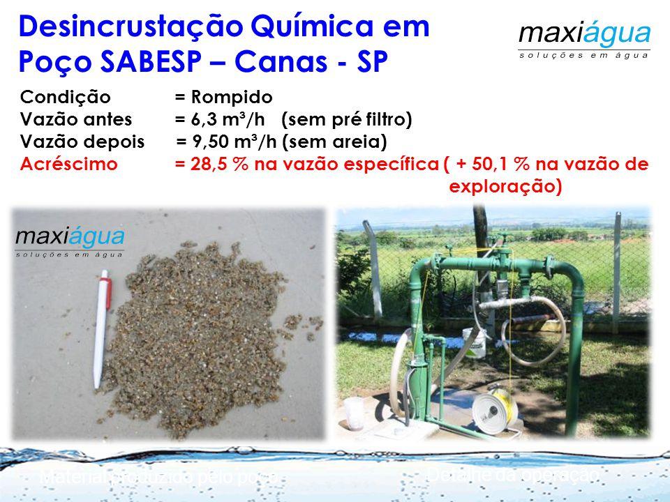 Fluxo restrito por incrustações Rompiment o Dinâmica do Problema e Solução Após a manutenção Martins Netto, J.P.G. 2007 Martins Netto, 2007