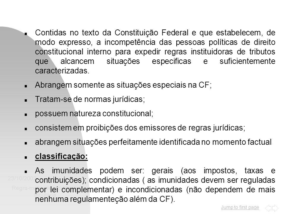 Jump to first page 23/10/2002 Regra-matriz de incidência tributária 14