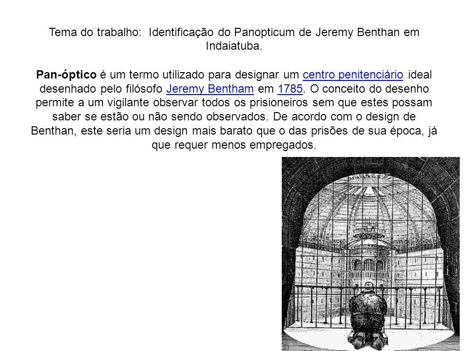 Tema do trabalho: Identificação do Panopticum de Jeremy Benthan em Indaiatuba.