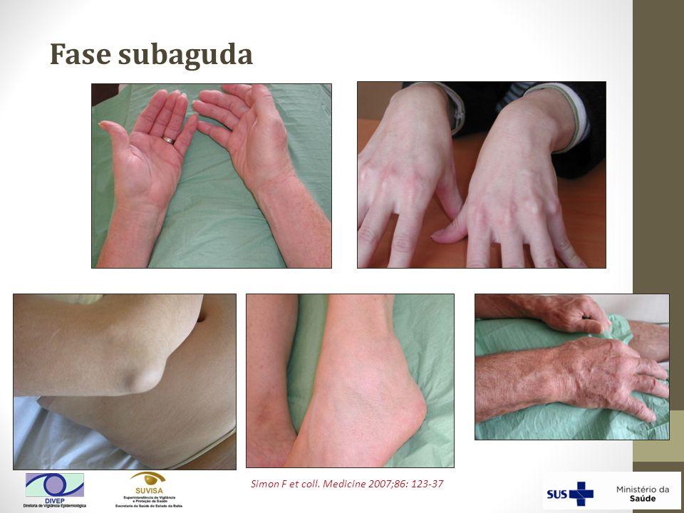 Simon F et coll. Medicine 2007;86: 123-37 Fase subaguda