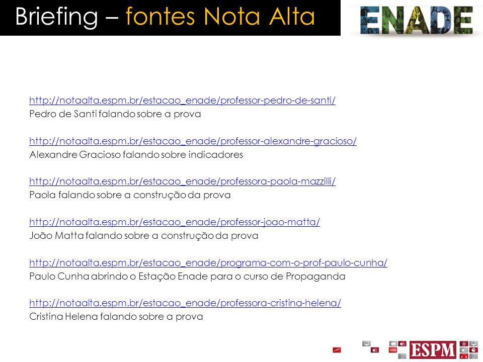http://notaalta.espm.br/estacao_enade/professor-pedro-de-santi/ Pedro de Santi falando sobre a prova http://notaalta.espm.br/estacao_enade/professor-a