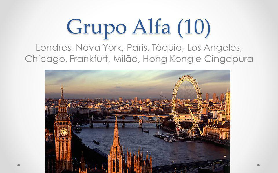 Grupo Alfa (10) Londres, Nova York, Paris, Tóquio, Los Angeles, Chicago, Frankfurt, Milão, Hong Kong e Cingapura