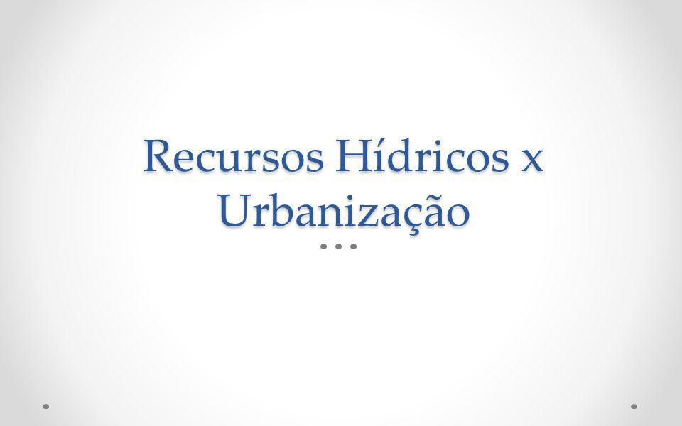 Recursos Hídricos x Urbanização