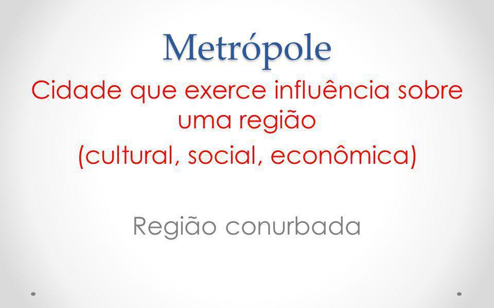 Cidade Global Metrópole com área de influência internacional atividades financeiras, administrativas, científicas e informativas