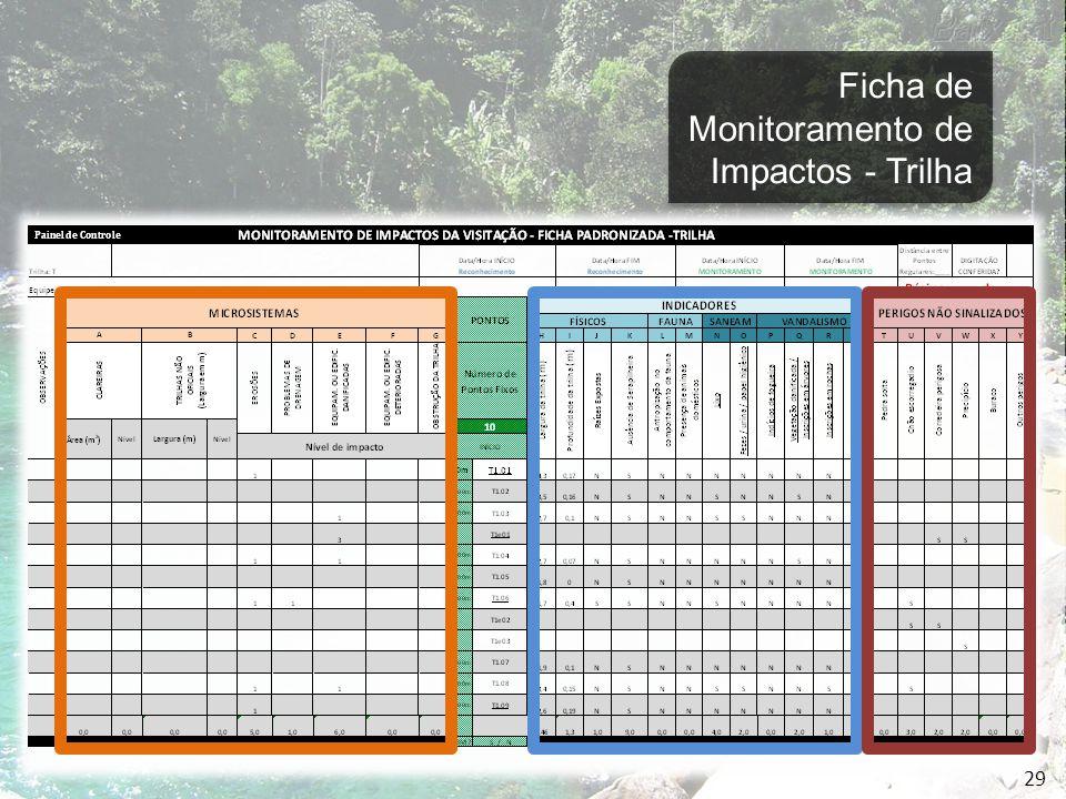Indicadores de Impactos Ambientais devido à Visitação Grau de Impacto do Visitante Identificação de Microssistemas e respectivos níveis de Impacto Grau de Manutenção do Atrativo 30 Capacidade de Suporte da Ilha Grande MONITORAMENTO DE IMPACTOS DA VISITAÇÃO EM ATRATIVOS NATURAIS