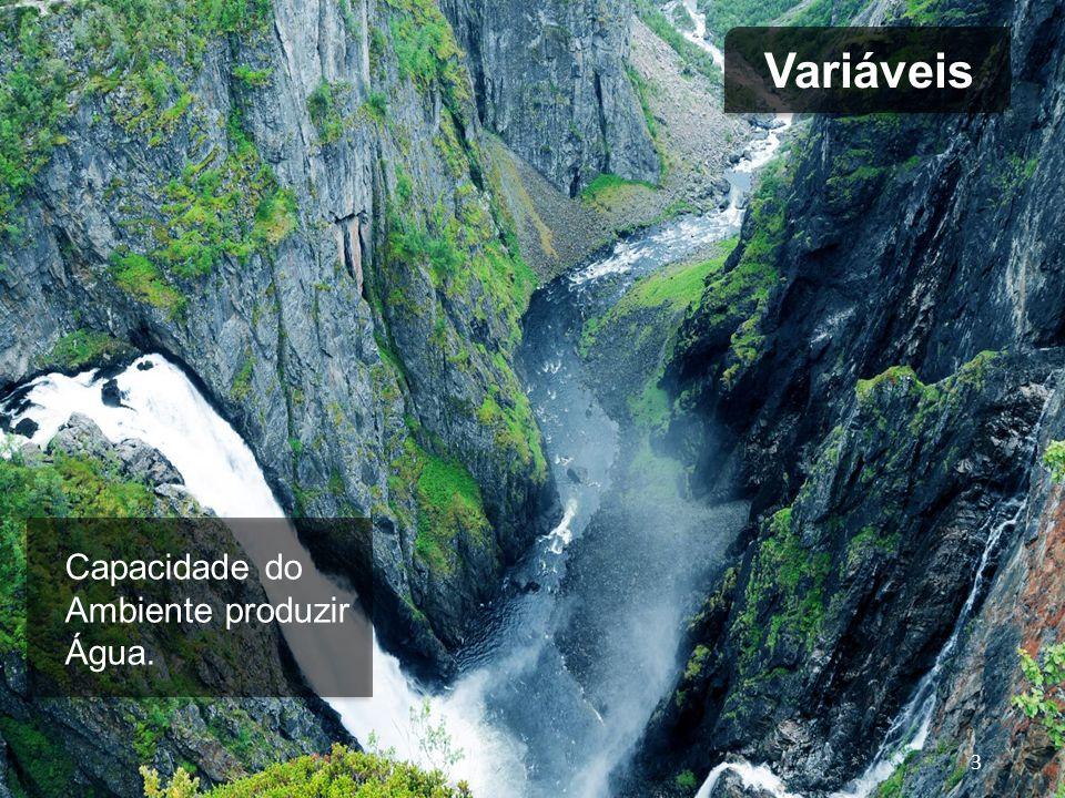 Capacidade do Ambiente em absorver e depurar esgotos e resíduos. 4 Variáveis