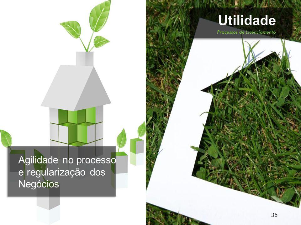 Novos negócios, novas Oportunidades. 37 Utilidade Planejamento do Desenvolvimento