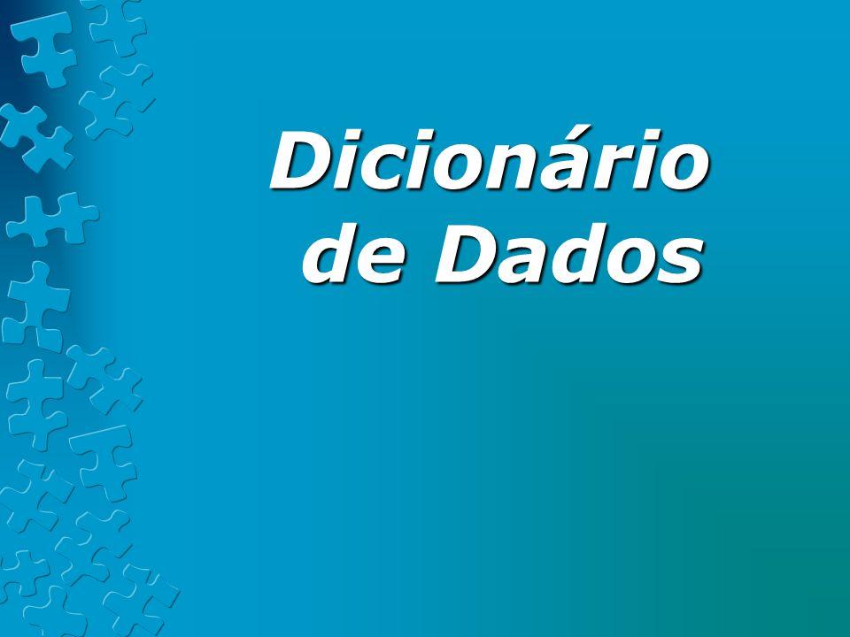 ExercícioExercício Escreva uma definição de DD das informações contidas na sua carteira de identidade.