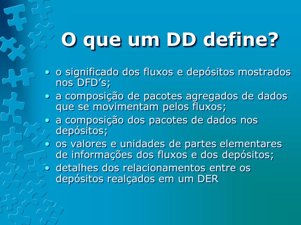 O que um DD define.