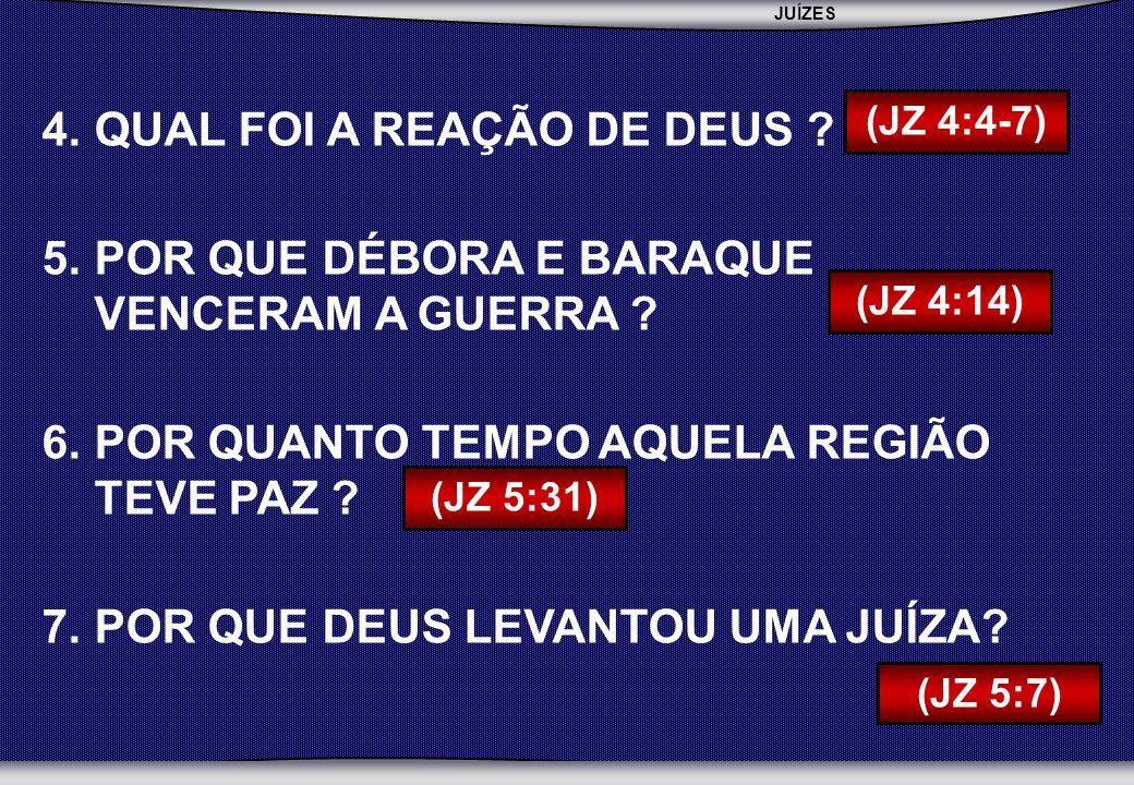 JUÍZES SEBAC - SEMINÁRIO BATISTA DA CHAPADA 4.QUAL FOI A REAÇÃO DE DEUS .