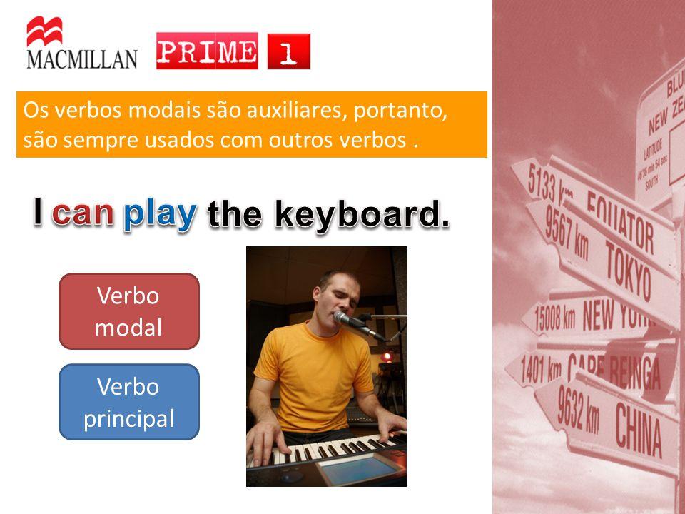 Os verbos modais são auxiliares, portanto, são sempre usados com outros verbos. Verbo modal Verbo principal