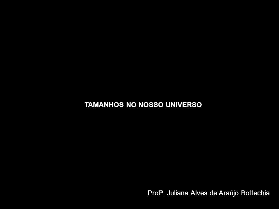 TAMANHOS NO NOSSO UNIVERSO Profª. Juliana Alves de Araújo Bottechia