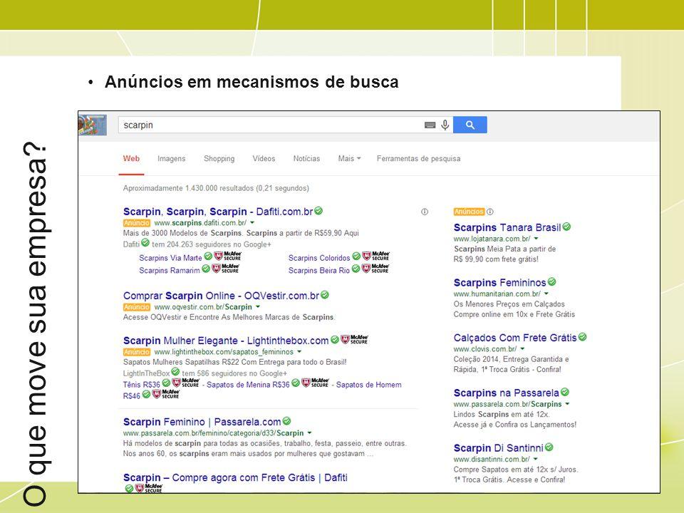 O que move sua empresa Anúncios em mecanismos de busca