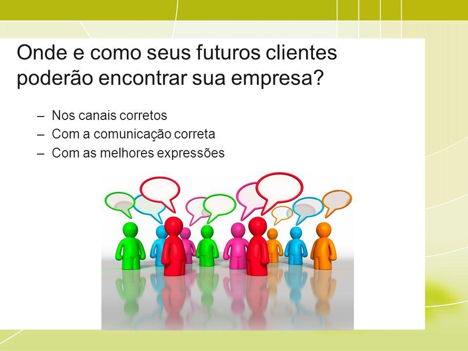 Onde e como seus futuros clientes poderão encontrar sua empresa.