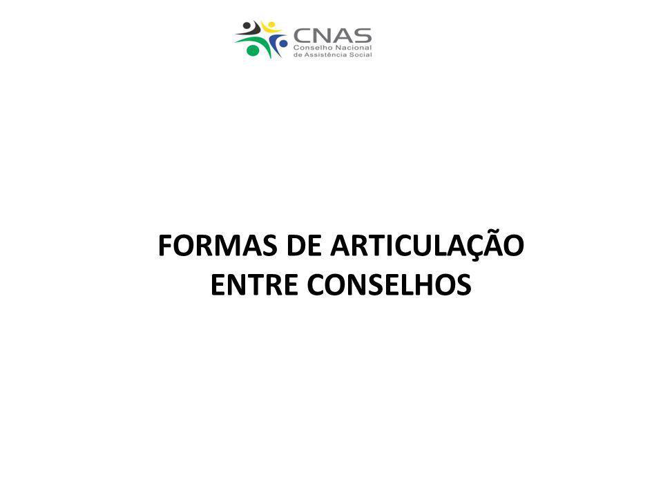 FORMAS DE ARTICULAÇÃO ENTRE CONSELHOS
