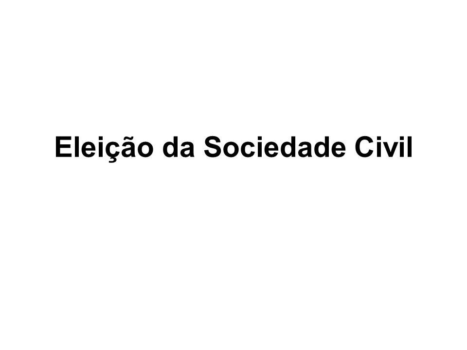 Eleição da Sociedade Civil