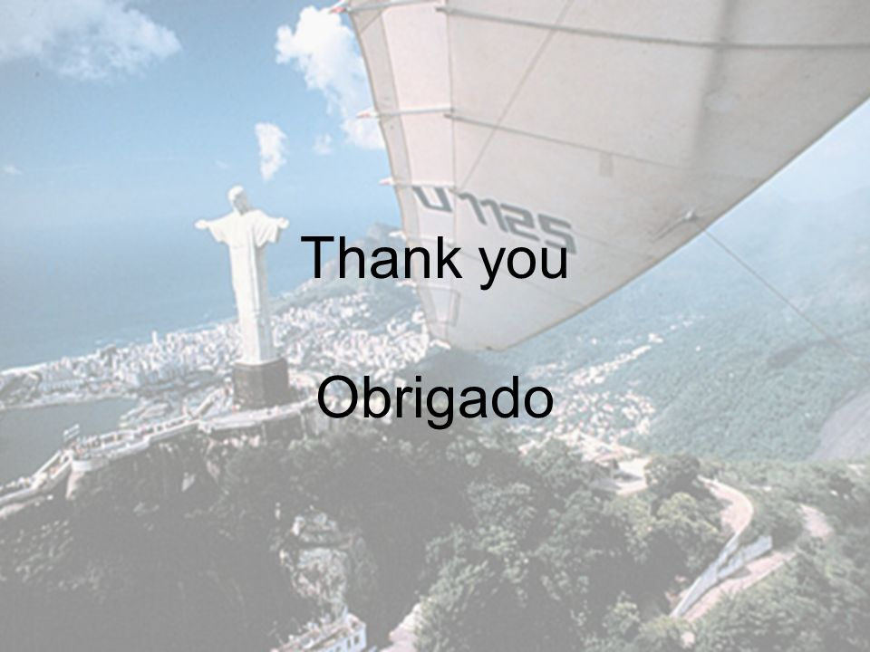 Thank you Obrigado