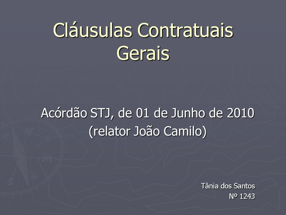 CLAUSULAS CONTRATUAIS GERAIS PDF DOWNLOAD