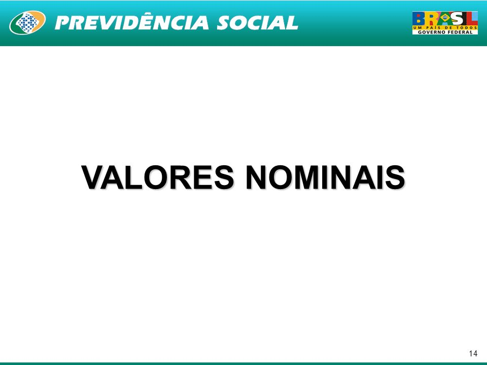 14 VALORES NOMINAIS