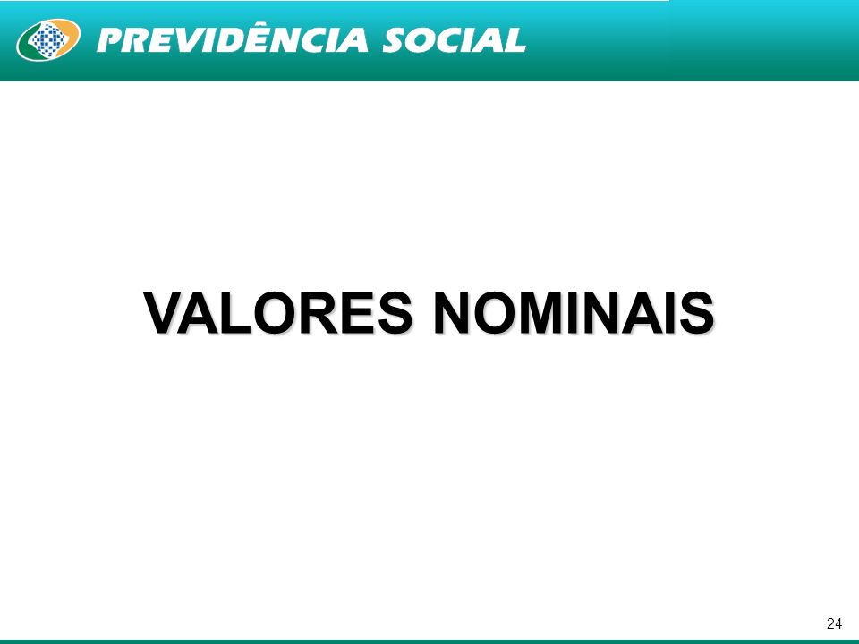 24 VALORES NOMINAIS