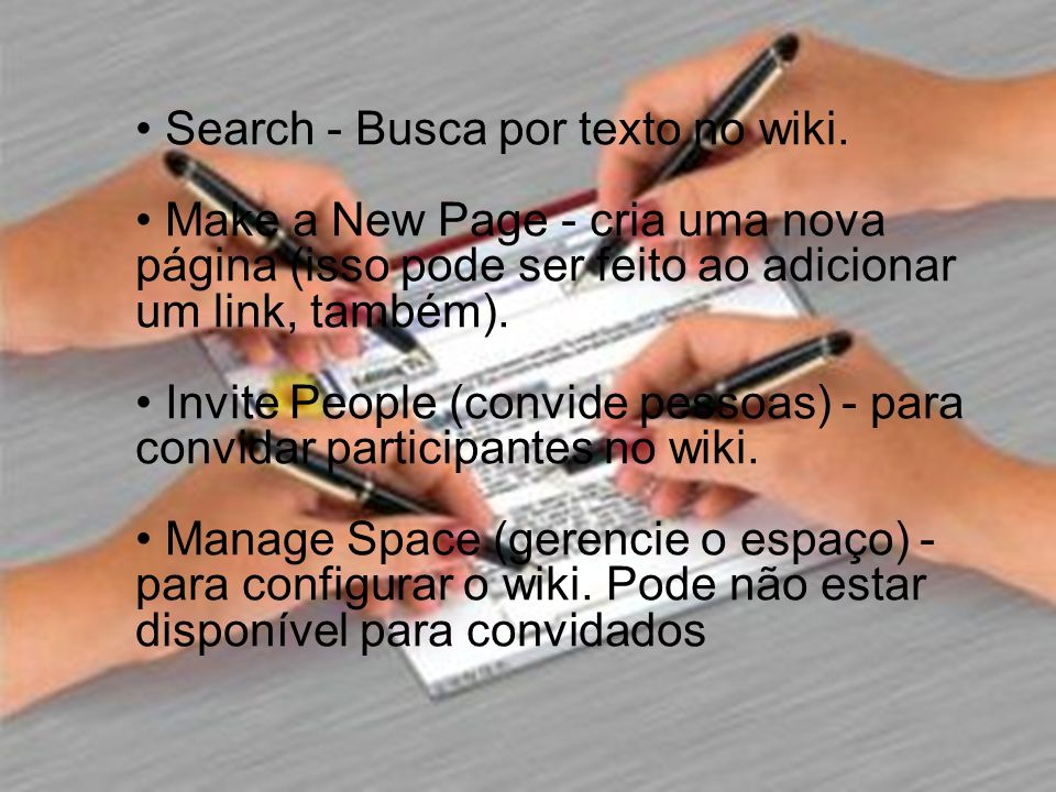 Search - Busca por texto no wiki.