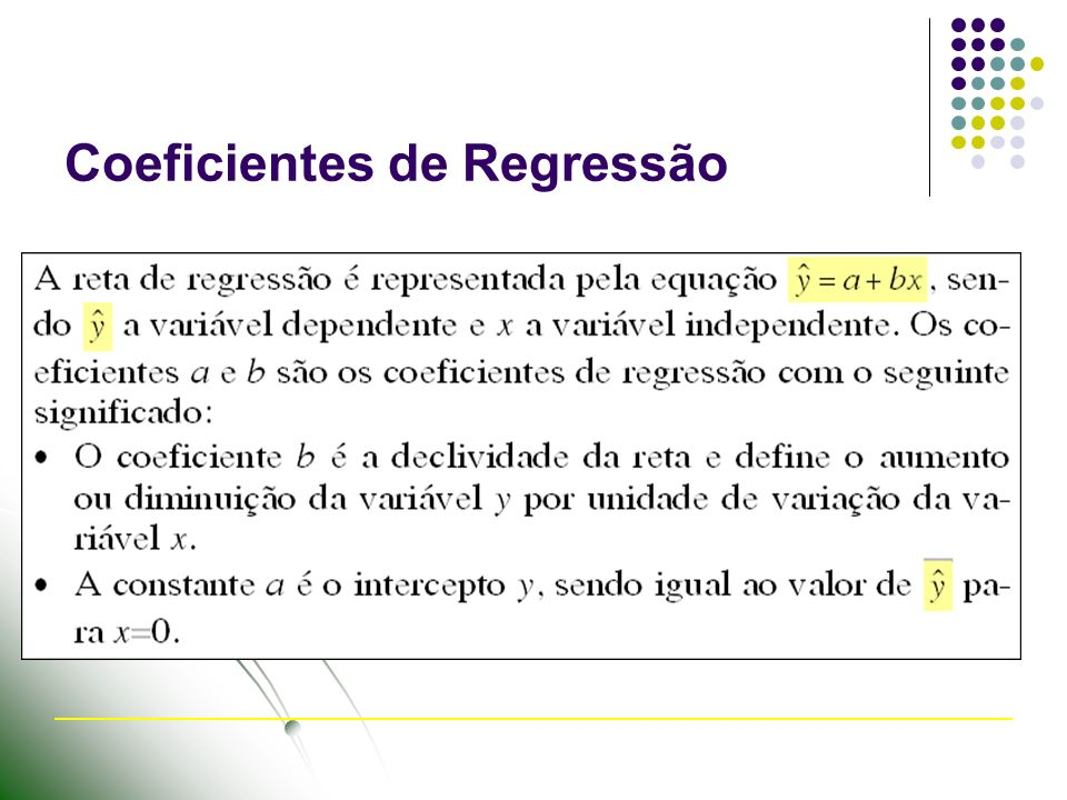 Coeficientes de Regressão